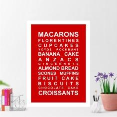 Baking list print