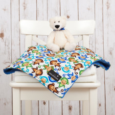 Cheeky monkeys baby blanket