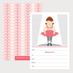Ballerina Invitations (Pack of 12)