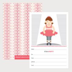 Ballerina Invitations (Pack of 12)