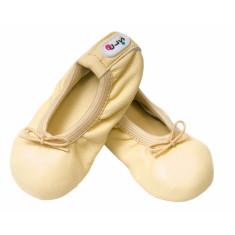 Baby ballet slippers in lemon