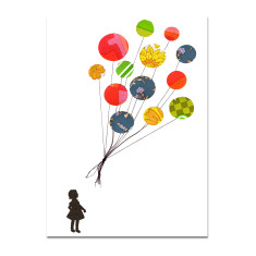 The balloons blank greeting card