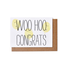 Woo hoo congrats greeting cards (pack of 5)