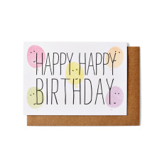 Happy birthday balloons greeting cards (pack of 5)