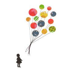 Balloon collage print