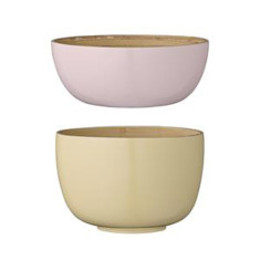 Alberte bamboo bowls (set of 2)