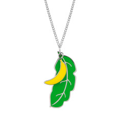 Banana & palm leaf pendant
