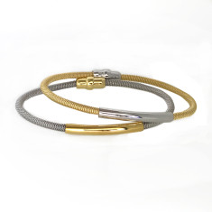 Cable bangle with plate