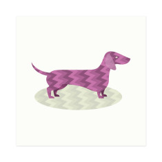 Sweet retro-patterned sausage dog gift cards (set of 5)