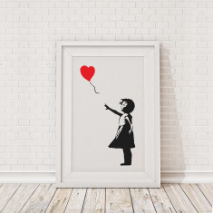 Banksy balloon girl print