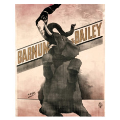 Vintage Barnum circus elephant ready to hang canvas print
