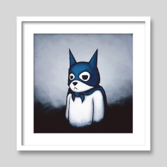 Bat bear by Luke Chueh art print