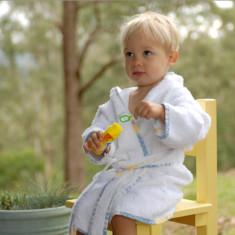 Personalised bamboo baby bathrobe