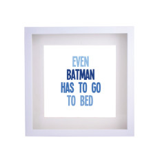 Even Batman has to go to bed framed print