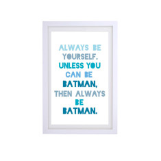 Batman quote framed print