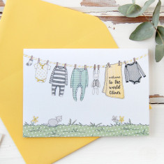 Personalised Welcome To The World New Baby Card