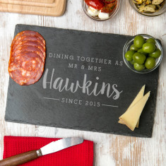 Personalised 'Dining Together Since' Serving Board
