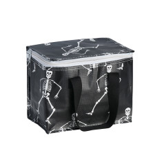 Insulated Lunch Box bag in Skeleton print