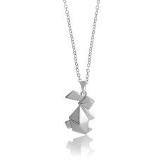 Bunny origami necklace