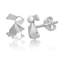 Bunny origami stud earrings