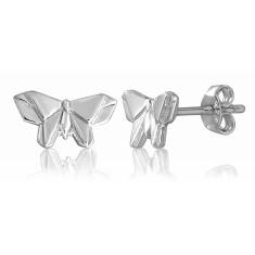 Butterfly origami stud earrings