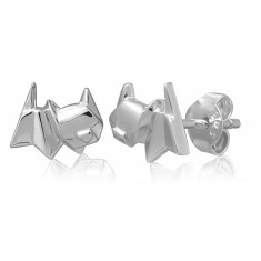Cat origami stud earrings