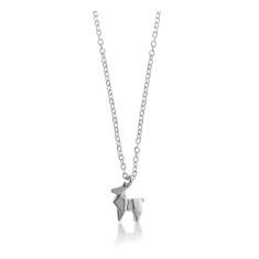 Deer origami necklace