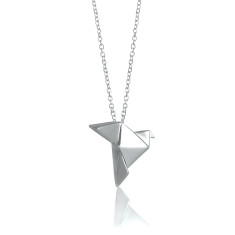 Dove origami necklace