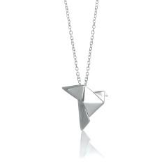 Dove origami necklace