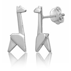 Giraffe origami stud earrings