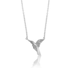 Hummingbird origami necklace