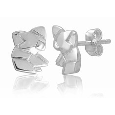 Koala origami stud earrings