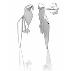 Parrot origami stud earrings