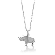 Rhino origami necklace