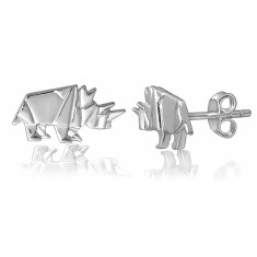 Rhino origami stud earrings
