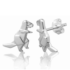 T-Rex origami stud earrings
