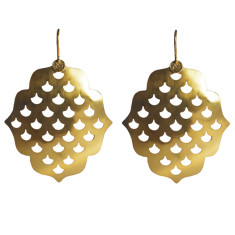 Screen Goddess Large Earrings - Gold
