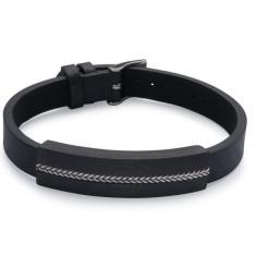Carbon Fibre and Leather Bracelet