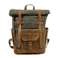 Canvas Waterproof Backpack/Laptop Bag In Grey