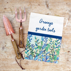 Copper Garden Tools In Personalised Bag