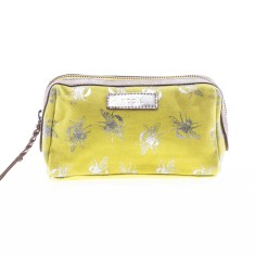 nooki design metallic bee printed makeup bag