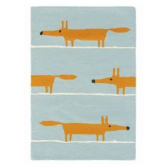 Brink & Campman Scion Mr Fox wool rug in aqua