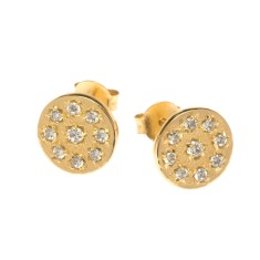 Lucilla stud earrings in yellow gold
