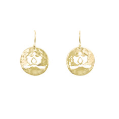 Ottoman disc drop earrings in 18 kt yellow gold plate