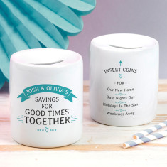 Personalised Couple's Good Times Together Money Box