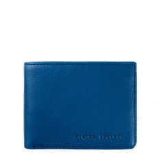 Walter leather wallet in blue