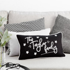 Personalised Family Stars Boudoir Cushion