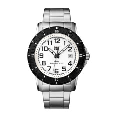 CAT PV-1 series watch in steel with white face