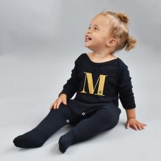 Christmas Alphabet Personalised Baby Romper Sleepsuit