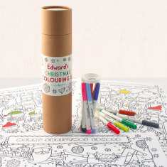 Personalised Christmas colouring set